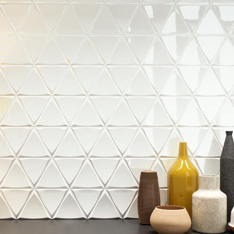 Foshan 3d Kitchen Wall Tile Triangle Pattern Decorative China