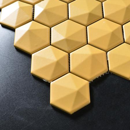 3d Flower Fashion Hexagon Design Mosaic Kitchen Bathroom